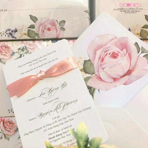 thiệp cưới cao cấp pink blur 03